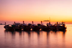 Lipe island sunset time Royalty Free Stock Image