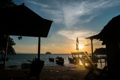 Lipe sunset Stock Images