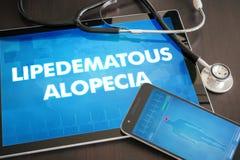 Lipedematous alopecia (cutaneous disease) diagnosis medical conc Royalty Free Stock Photography
