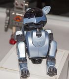 Lipetsk, Российская Федерация 16-ое января 2018: Модельный робот на выставке роботов в городе Lipetsk стоковое изображение rf