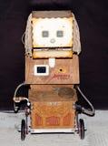 Lipetsk, Federação Russa 16 de janeiro de 2018: Robô modelo na exposição dos robôs na cidade de Lipetsk Foto de Stock