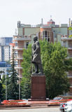 Lipetsk, ROSJA - 05 08 2015 Katedry whith Kwadratowy zabytek Lenin Zdjęcia Stock
