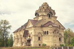 Lipetsk, Rusland 14 September, 2018: De Kerk van Dimitry Thessaloniki in Berezovka, Christian Church, de Christen en Catho royalty-vrije stock fotografie