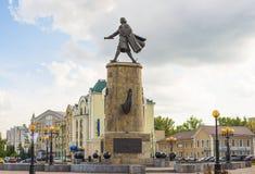 Lipetsk RUSSIA-05 08 2015 El monumento a Peter el grande es una de las atracciones principales de la ciudad de Lipetsk Fotos de archivo libres de regalías