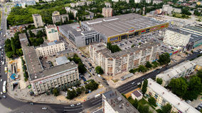 Lipetsk, Russia - July 11. 2017. Top view of Europe shopping and entertainment center. Royalty Free Stock Photography