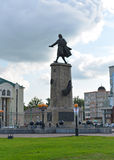 Lipetsk RUSSIA-05.08.2015. Monument to Peter the Great is one of the main attractions of the city of Lipetsk Stock Photography