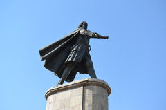 Lipetsk RUSSIA-05.08.2015. Monument to Peter the Great is one of the main attractions of the city of Lipetsk Stock Photos
