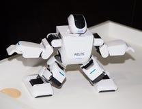 Lipetsk rysk federation Januari 16, 2018: Modellera roboten på utställningen av robotar i staden av Lipetsk fotografering för bildbyråer