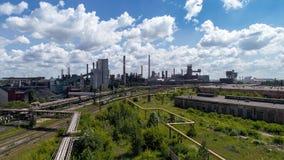 Lipetsk Ryssland - Juli 11 2017: Metallurgical grupp för växt NLMK Fotografering för Bildbyråer