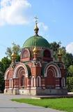 Lipetsk RYSSLAND - 05 08 2015 Ortodoxt tempel-kapell av Peter och Paul Royaltyfria Foton