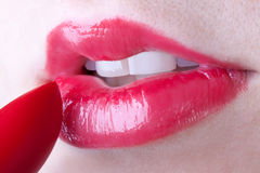 Lipgloss Royalty-vrije Stock Foto's