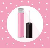 Lipgloss beauty hack collection icons template vector Stock Images