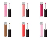 Lipgloss beauty hack set collection icons template vector Royalty Free Stock Photo