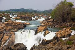 Liphi瀑布伟大的瀑布 库存图片