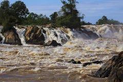 Liphi waterfalls in champasak southern of Laos Stock Image