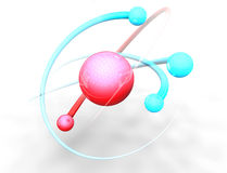 Atom and molecules Royalty Free Stock Images