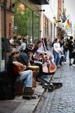Lipiec 26, 2011, Dublin, Irlandia - sławny świątynia bar Fotografia Royalty Free
