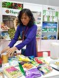 27 Lipiec 2016 jedzenia & napoju handlu międzynarodowego jarmark przy KLCC Zdjęcie Stock