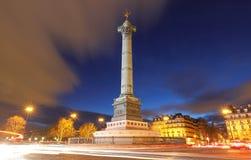 Lipiec kolumna na Bastille kwadracie w Paryż, Francja obraz royalty free