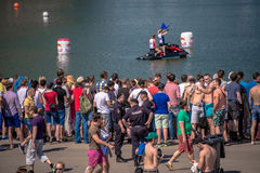 Lipiec 26, 2015 Red Bull Flugtag Przed turniejowymi początkami Zdjęcie Royalty Free