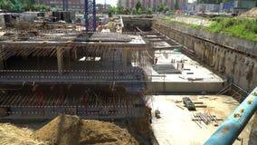 20 2017 Lipiec Rosja moscow budowa ustanowione cegieł na zewnątrz miejsca Budowa budynek od monolita wzmacniał beton Konstrukcja zbiory