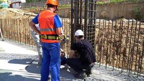 20 2017 Lipiec Rosja moscow budowa ustanowione cegieł na zewnątrz miejsca Budowa budynek od monolita wzmacniał beton wzmacnienie zbiory