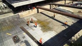 20 2017 Lipiec Rosja moscow budowa ustanowione cegieł na zewnątrz miejsca Budowa budynek od monolita wzmacniał beton wzmacnienie zbiory wideo