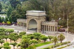 Lipiec 20, 2018 San Francisco, CA, usa/- antena krajobraz w arboretum i muzyki Concourse terenie golden gate park fotografia stock