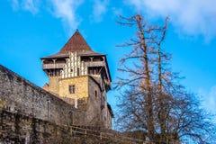 Lipnice nad Sazavou Medeltida slott för gotisk stil, Tjeckien royaltyfri fotografi