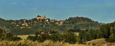 Lipnice nad Sazavou panorama royalty free stock photos