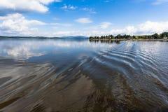 Lipno湖,捷克 库存图片