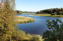 Lipno lake, Bohemia. View to Lipno lake at Czech republic. Apple tree in the front. Autumn season Royalty Free Stock Photography