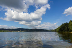 Lipno lake in Czech Republic. Stock Image