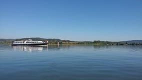 Lipno. Photography from boat on lake Lipno Royalty Free Stock Photos
