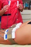 Lipo laser Narzędzia kosmetologia ciało opieki zdrowia spa nożna kobieta wody Non chirurgicznie ciało sculpting ciało obrysowywa  fotografia royalty free