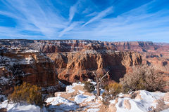 Lipon Point grand Canyon. A snow covered ledge overlooking the grand Canyon at Lipon Point Royalty Free Stock Photography