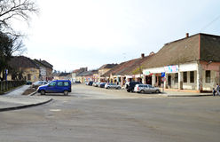 Lipova city center. LIPOVA ROMANIA  town center editorial landmark architecture Royalty Free Stock Photo