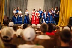 Lipovans choir Royalty Free Stock Photo