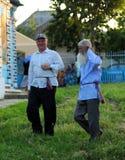 种族Lipovans, Sarichioi,罗马尼亚 库存照片