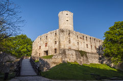 Lipowiec城堡- Krakà ³ w主教的废墟在勃利防御 免版税库存照片
