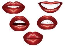 Lippen. Royalty-vrije Stock Fotografie