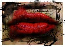Lippen Royalty-vrije Stock Afbeeldingen