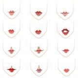 Lippen Royalty-vrije Stock Foto