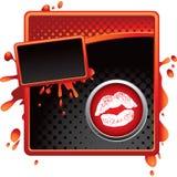 Lippen auf Halbtonfahne Stockbild