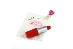Lippen bij papieren zakdoekje Stock Foto