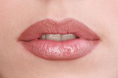 Lippen der jungen Frauen Stockfotos
