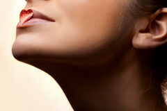 Lippen des Mädchens Lizenzfreies Stockfoto
