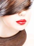Lippen en haar stock foto's