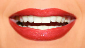 Lippen par coeur Image libre de droits