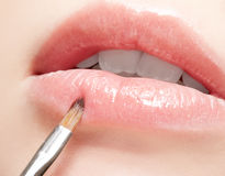 Lippenmake-up Stockbild
